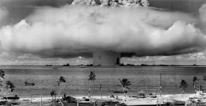 explosion over beach